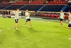 Bajo la lluvia de Barranquilla: el entrenamiento de Argentina antes de enfrentar a Colombia [VIDEO]