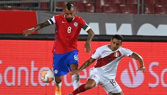 Yoshimar Yotún analizó la derrota peruana ante Chile. (Foto: EFE)
