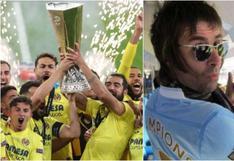 Liam Gallagher, hincha del Manchester City, celebró el título de Villarreal
