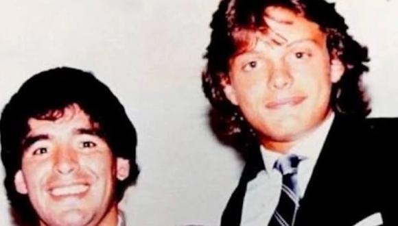 Diego Maradona asistió a un concierto de Luis Miguel en 1994. (Foto: Olé)