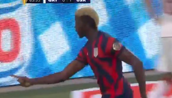 Gol de Gyasi Zardes para el 1-0 del Estados Unidos vs. Qatar por la Copa Oro 2021 (Foto: Captura/@GoldCup)