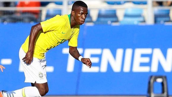 Vinicius Junior recibió el llamado de Brasil para Tokio 2020. (Foto: EFE)