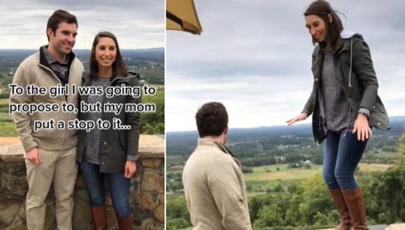 Madre impide que su hijo le proponga matrimonio a su novia y la escena da la vuelta al mundo. (Foto: @catdaddan / TikTok)