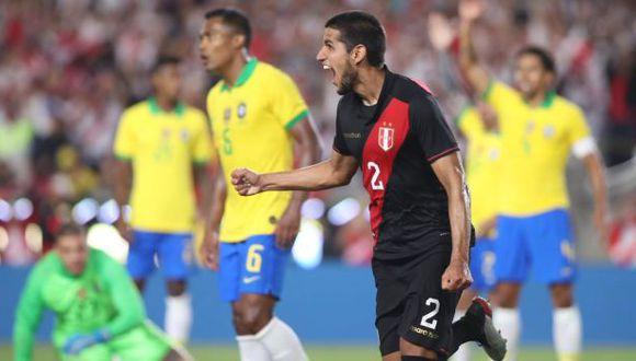 Luis Abram anotó el gol del triunfo de Perú en el amistoso ante Brasil. (Foto: @SeleccionPeru)