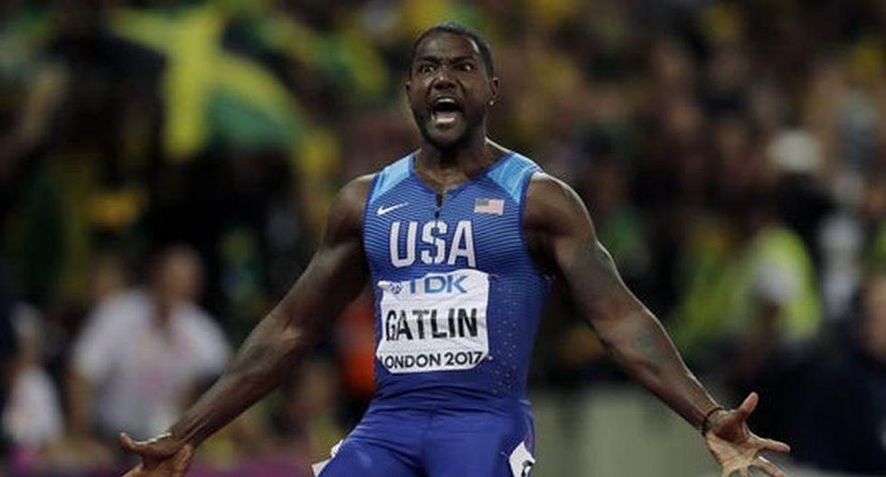 Gatlin es el quinto hombre más veloz de la historia. (Lima 2019)