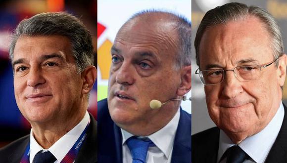 """Javier Tebas aseguró que equipos que siguen en la Superliga """"no son imprescindibles"""". (Fotos: Agencias)"""