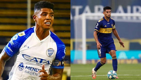 Wilder Cartagena y Carlos Zambrano son dos de los peruanos que vienen destacando en el balompié argentino. (Fotos: Agencias)