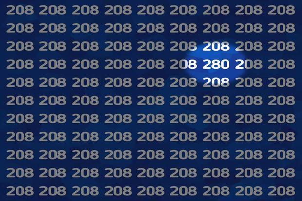 Aquí está la ubicación del número 280 en la ilustración de este acertijo lógico. | Foto: genial.guru