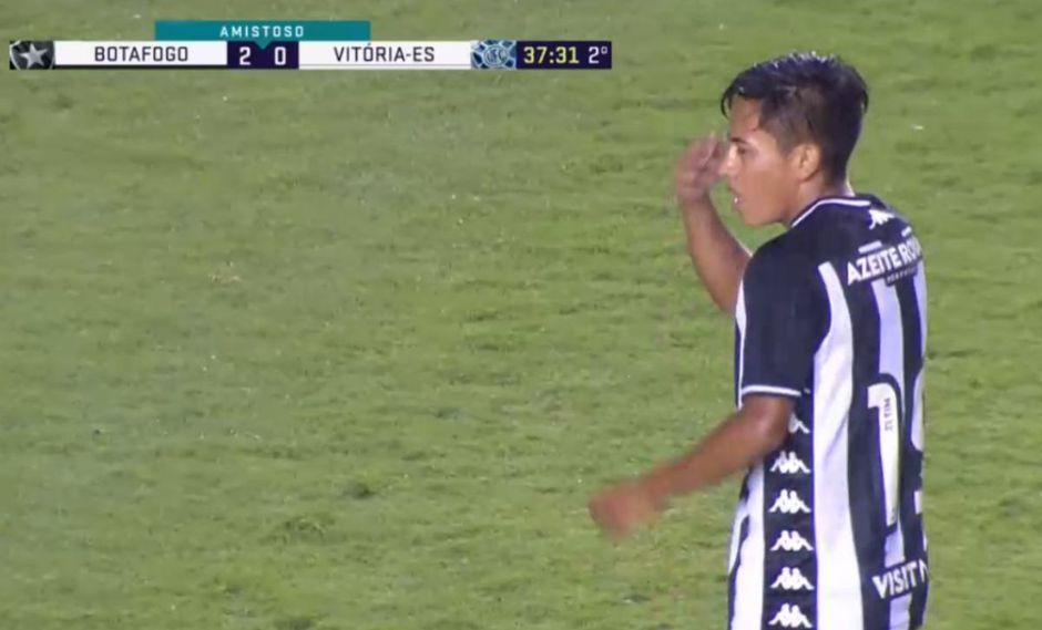 Lecaros debutó con Botafogo, donde jugó los últimos 15 minutos. (Captura)