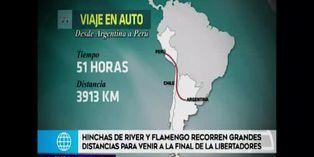 Copa Libertadores: el largo trayecto de los hinchas de River y Flamengo