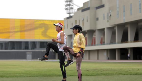 Gladys Tejeda entrenó en el estadio atlético de la VIDENA como parte de su preparación a Tokio 2020. (Foto: Legado)