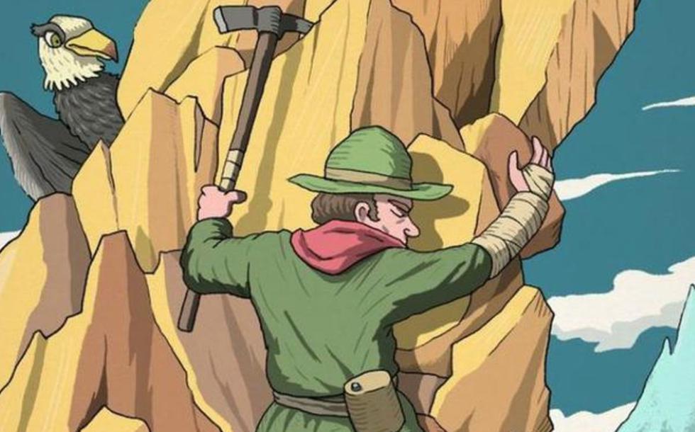 Encuentra la cara oculta en la imagen del escalador que solo el 5% logra ver. (Difusión)