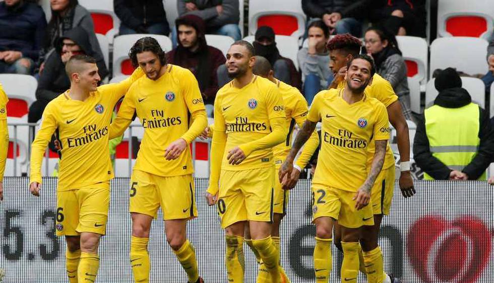 PSG venció 2-1 a Niza por Ligue 1 (Foto: Agencias).