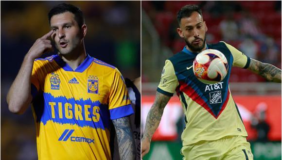 André-Pierre Gignac y Emanuel Aguilera presumen sus récords en el fútbol mexicano (Foto: Getty Images)