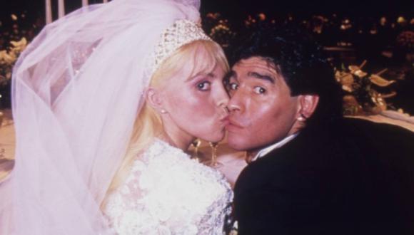 Claudia Villafañe fue la única mujer con la que Diego Maradona contrajo matrimonio. (Internet)