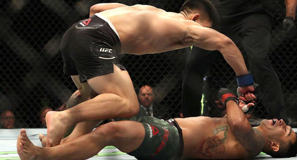Yadong Song su cuarta victoria consecutiva en UFC. (Getty Images)