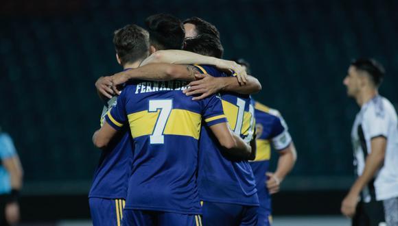 Boca Juniors volvió a jugar después de seis meses y venció a Libertad en Paraguay. (Foto: Conmebol)