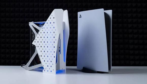 Así se ve una PlayStation 5 con refrigeración líquida. (Foto:  Modding Cafe)