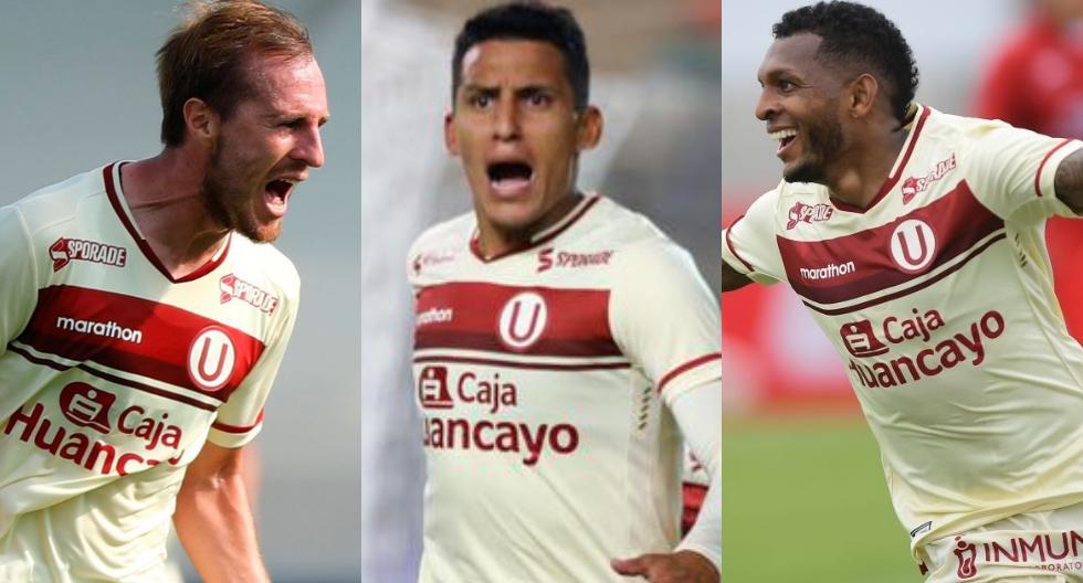 Goleadores de Universitario en la temporada 2021. (Foto: Liga 1)