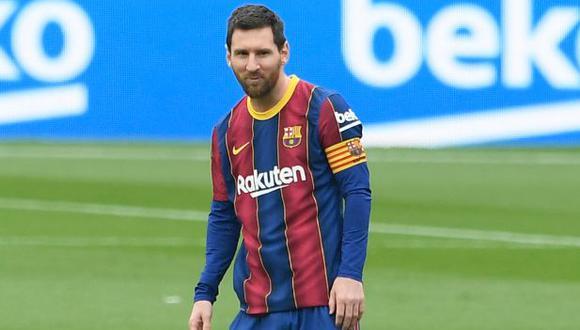 Lionel Messi colaboró con un doblete en el triunfo de Barcelona. (Foto: AFP)