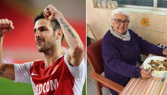 La bisabuela de Cesc Fábregas venció al COVID-19 con 95 años de edad. (Difusión)