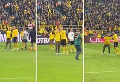 Gesto de 'crack': la reacción de Erling Haaland con un hincha del Dortmund [VIDEO]