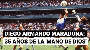 Se cumplen 35 años del emotivo 'Gol del Siglo' de Maradona a los ingleses