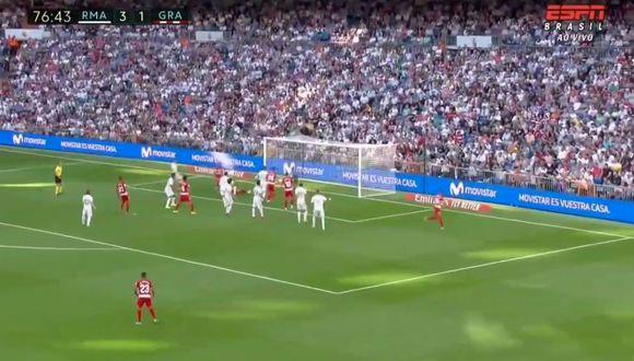 Duarte pone el descuento 3-2 en el Real Madrid vs. Granada en el Bernabéu por LaLiga