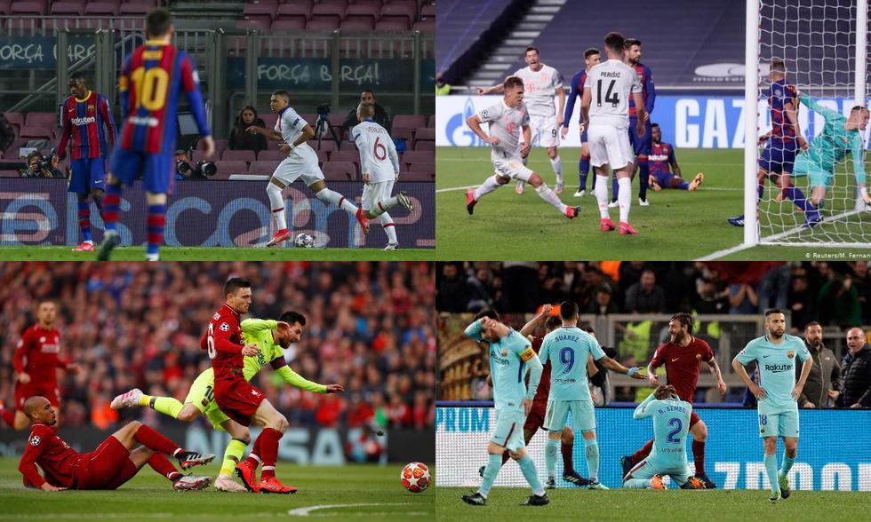 Barcelona ha sufrido duros golpes en la historia de la Champions League. (Fotos: Agencias)
