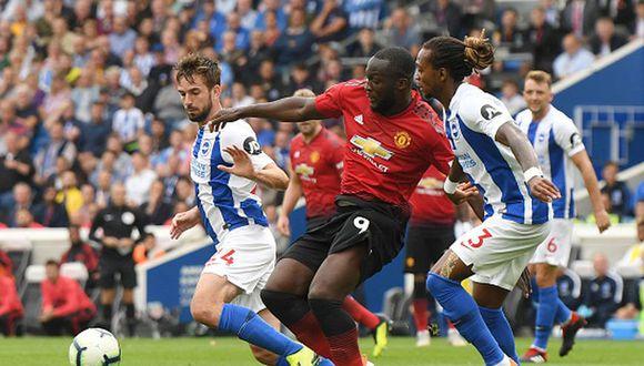 Romelu Lukaku llegó al Manchester United en la temporada 2017/18. (Getty)