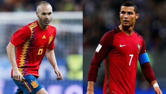 España vs. Portugal juegan en Sochi por el Mundial Rusia 2018. (Difusión)