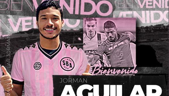 Jorman Aguilar fue anunciado como nuevo jugador de Sport Boys. (Foto: Twitter)
