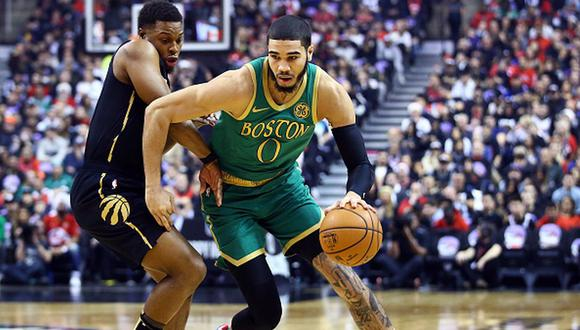 Boston Celtics vencieron a los Toronto Raptors por 118-102 por NBA. (Getty Images)