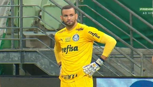 Weverton estuvo presente en la derrota de Palmeiras ante Coritiba por el Brasileirao.