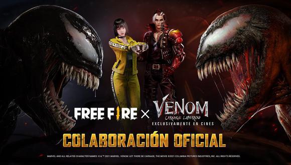 """Free Fire introduce todas estas recompensas en el evento """"Venom: Carnage liberado"""". (Foto: Garena)"""