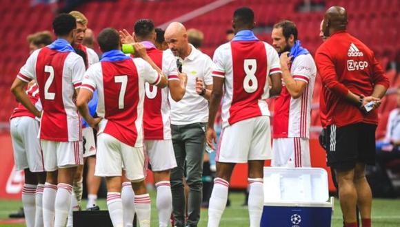 Ajax marcha tercero en el Grupo D con solo un punto. (Foto: AFP)