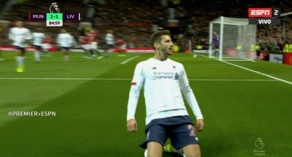 Adam Lallana puso el 1 a 1 del Liverpool ante Manchester United por la Premier League.