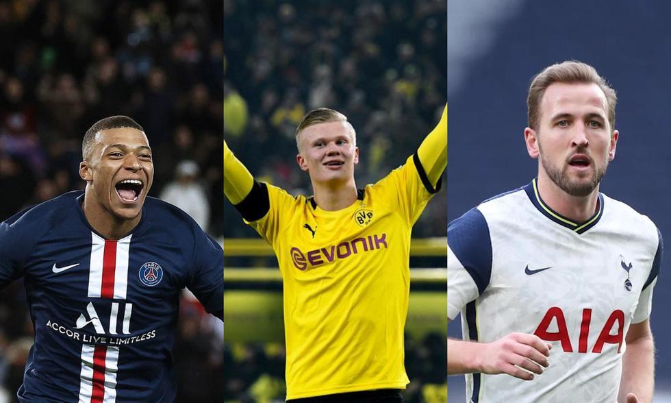 Mbappé, Haaland y Kane encabezan la lista de los diez futbolistas más caros del mundo. (Fotos: Agencias)