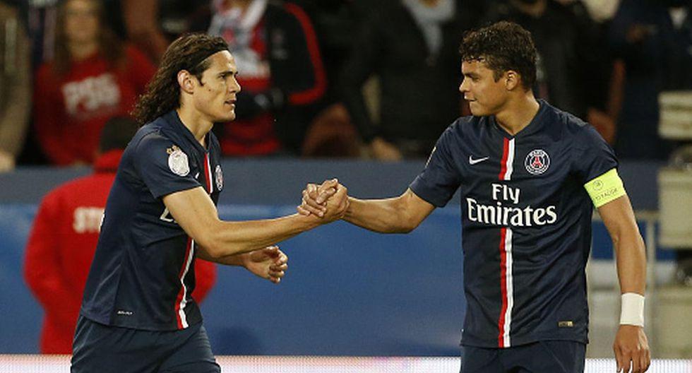 Edinson Cavani y Thiago Silva no tiene títulos internacionales en PSG. (Foto: Getty Images)