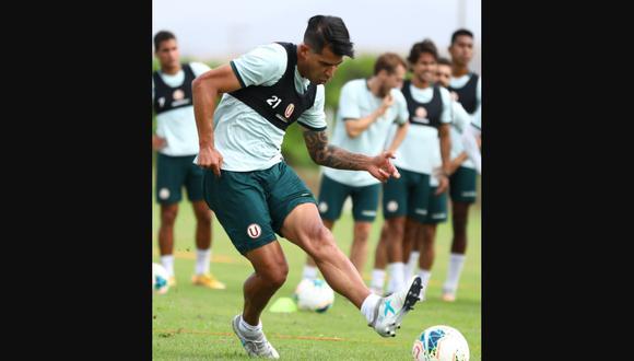 Enzo Gutiérrez sumó su primer entrenamientos con Universitario. (Foto: Prensa U)