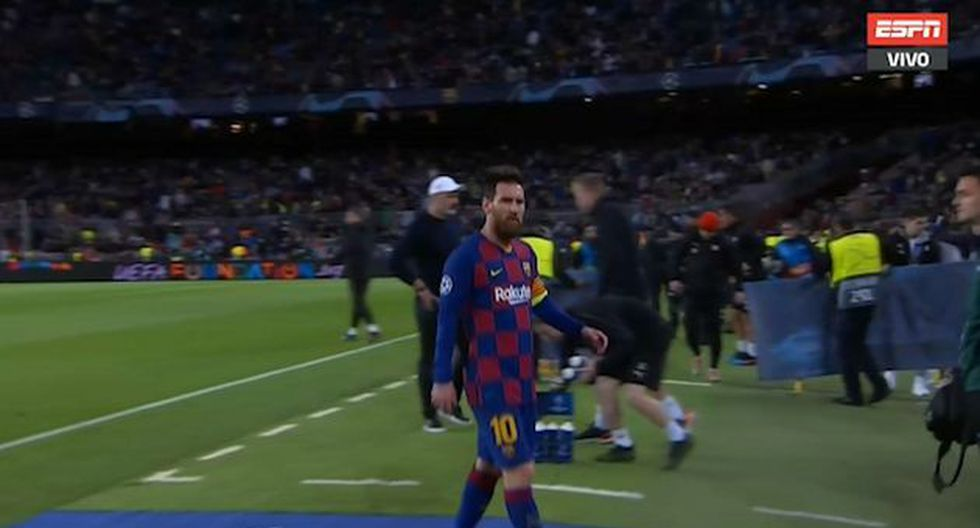 Lionel Messi se fue muy molesto a los vestuarios al final del primer tiempo entre Barcelona y Slavia Praga por Champions League 2019.