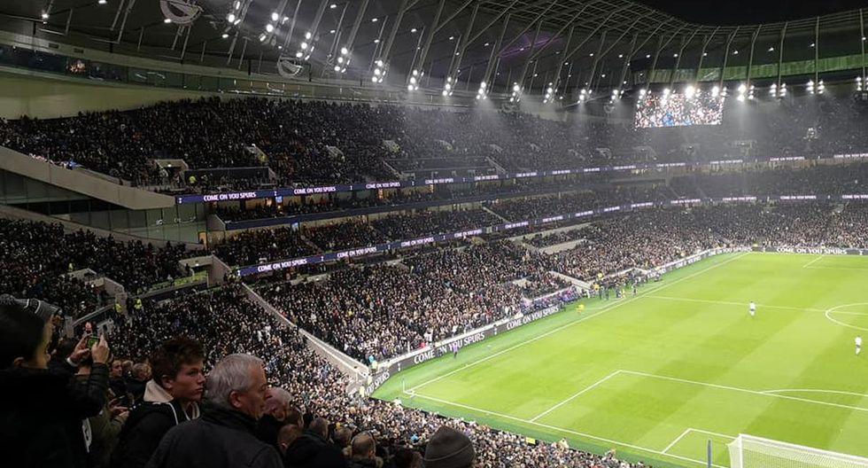 Tottenham Hotspur Stadium (Inglaterra) de Tottenham lleva en promedio 59,485,espectadores por cada partido de la Premier League. (Foto: Facebook Tottenham)