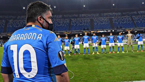Genaro Gattuso se sumó al homenaje a Diego Maradona. (Foto: @SoyCalcio_)