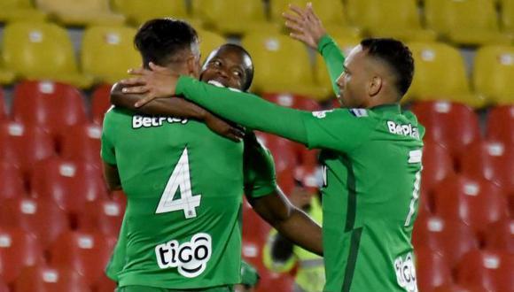 Atlético Nacional derrotó 1-0 a Santa Fe por la Liga BetPlay. (Twitter)