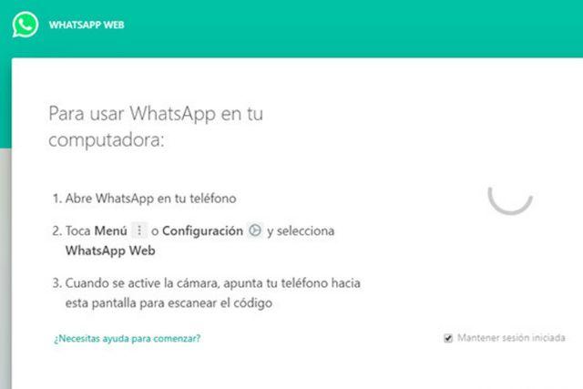 El código QR no te carga. (WhatsApp Web)