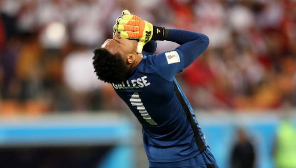 Pedro Gallese tapó los 3 partidos de la Selección Peruana en el Mundial de Rusia 2018. (Getty Images)