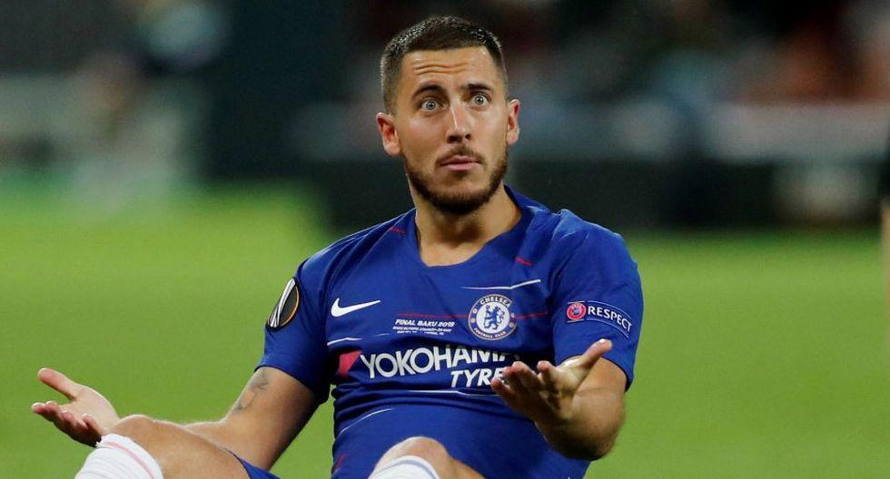 Eden Hazard llegaría al Real Madrid después de siete temporadas en el Chelsea. (AFP)