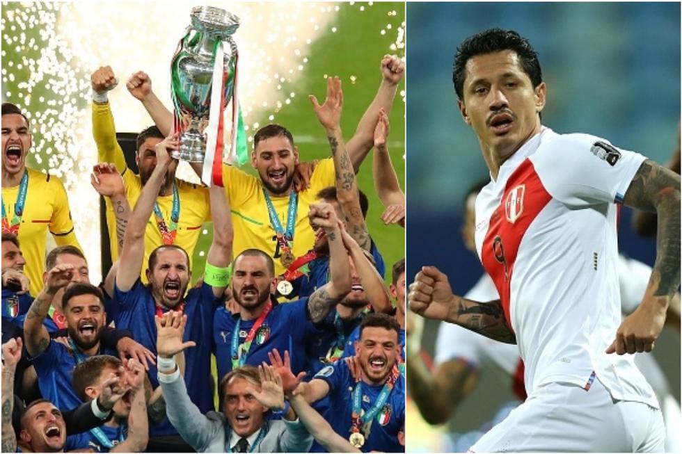 Los campeones de la Eurocopa que fueron compañeros de Lapadula en la 'Azzurra'. (Getty)