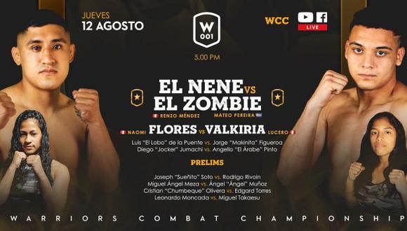 Warriors Combat Championship realizará su primer evento este 12 de agosto. (Difusión)