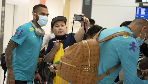 Dani Alves llegó a Tokio para disputar los Juegos Olímpicos con Brasil. (Foto: Agencias)